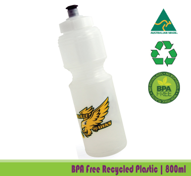 Recycled Plastic Promotional Water Bottles: Value Printed